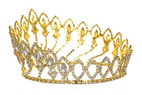 """Au plaisir des yeux - Couronne De Miss Diadème De Mariage """"Altesse Doré"""""""