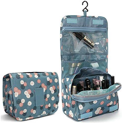 ジッパー吊りトイレタリーバッグ花柄旅行オーガナイザーケース女性化粧品メイクアップバッグ YZUEYT