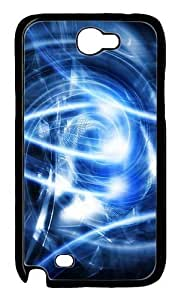 Abstract Blue Art Polycarbonate Hard Case Cover for Samsung Galaxy Note 2/ Note II/ N7100 Black