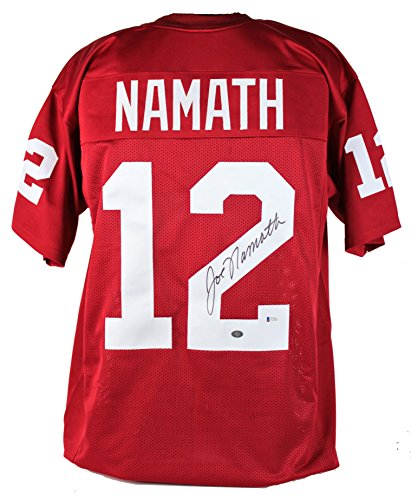 - Alabama Joe Namath Authentic Signed Crimson Red Jersey Auto BAS & Namath Holo