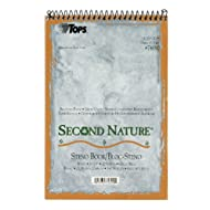 TOPS Second Nature Spiral Steno Books, Recycled, 6 x 9 Inches, Gregg Rule, Tan Cover, 70 Sheets Per Book (74690)