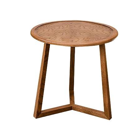 WOODEN LIFE Table Basse en Bois Rond, canapé Table d\'appoint ...