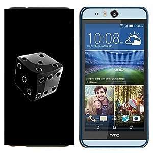 TECHCASE---Cubierta de la caja de protección para la piel dura ** HTC Desire Eye ( M910x ) ** --Negro y blanco cromo dados