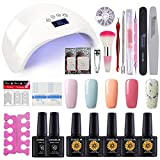 Coscelia Nail Polish Manicure Kit 5 Colors Soak Off Gel Polish with 48W - Best Reviews Guide