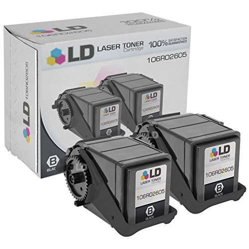 LD Compatible Replacement for Xerox 106R02605 Set of 2 Black Laser Toner Cartridges for use in Xerox Phaser 7100 Printer