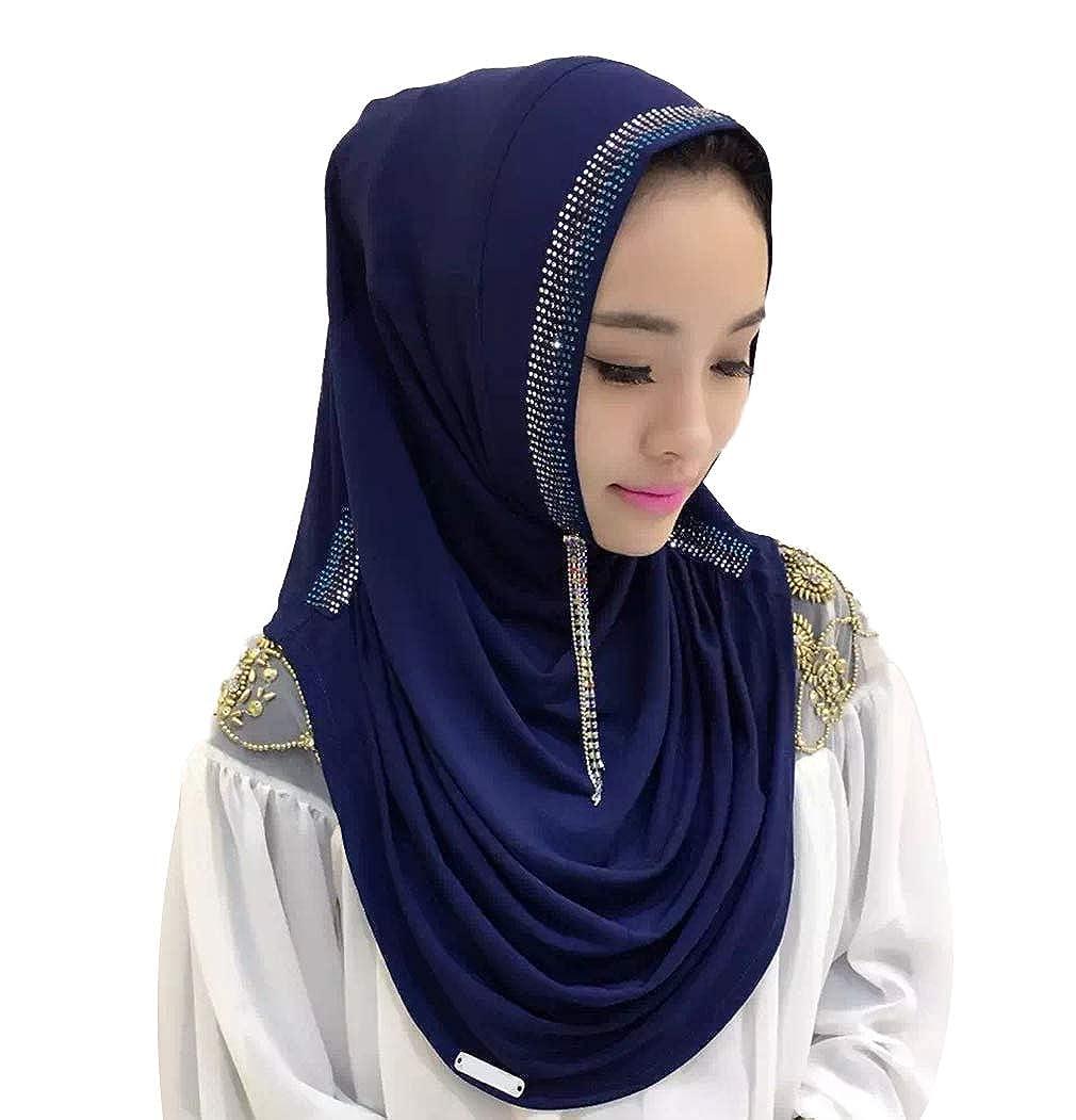 zhbotaolang Moslem Islamisch Arabisch Frau Hijabs Muslim Kopftuch Wraps Schleier Party Hochzeit Ramadan Gebet Turban