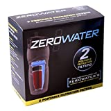 ZeroWater ZR-224 2-Pack Travel Bottle Filters by Zero Water