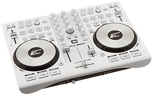 Epsilon Pro-Mix2 (White) Ultra-compact 2-Deck Professional MIDI/USB DJ Controller -