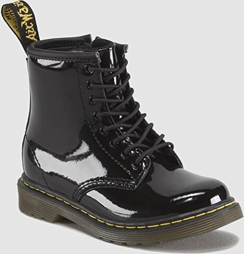 (Dr. Martens Brooklee Boot (Toddler),Black Patent Lamper,8 UK (9 M US)