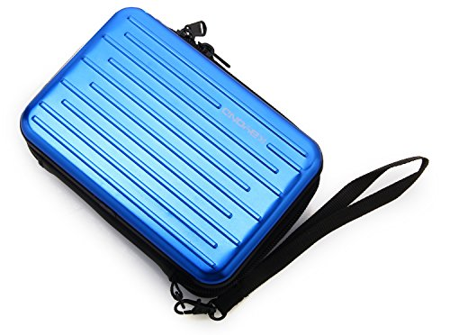 KAYOND Anti-shock Silver Aluminium Carry Travel Protective Storage Case Bag for 2.5'' Inch Portable External Hard Drive HDD USB 2.0/3.0 (blue) by KAYOND (Image #2)