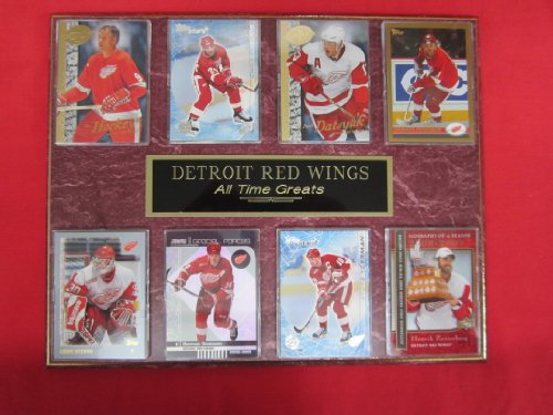 (Detroit Red Wings All Time Greats 8 Card Plaque)
