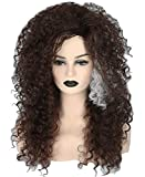 Topcosplay Womens Bellatrix Lestrange Wig Brown Long Curly Fluffy Afro Cosplay Halloween Costume Wigs
