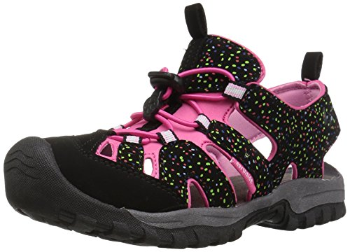 Northside Burke II Athletic Sandal,Black/Fuchsia,1 M US Little - Kids Apparel Little Fuchsia