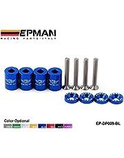 """EPMAN 1"""" Billet Hood Vent Spacer Riser Kits For All Turbo/Engine/Motor Swap 6MM (Blue)"""