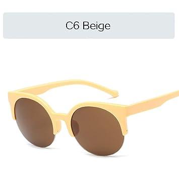YOGER Gafas De Sol Gafas De Sol Retro De Medio Marco para ...