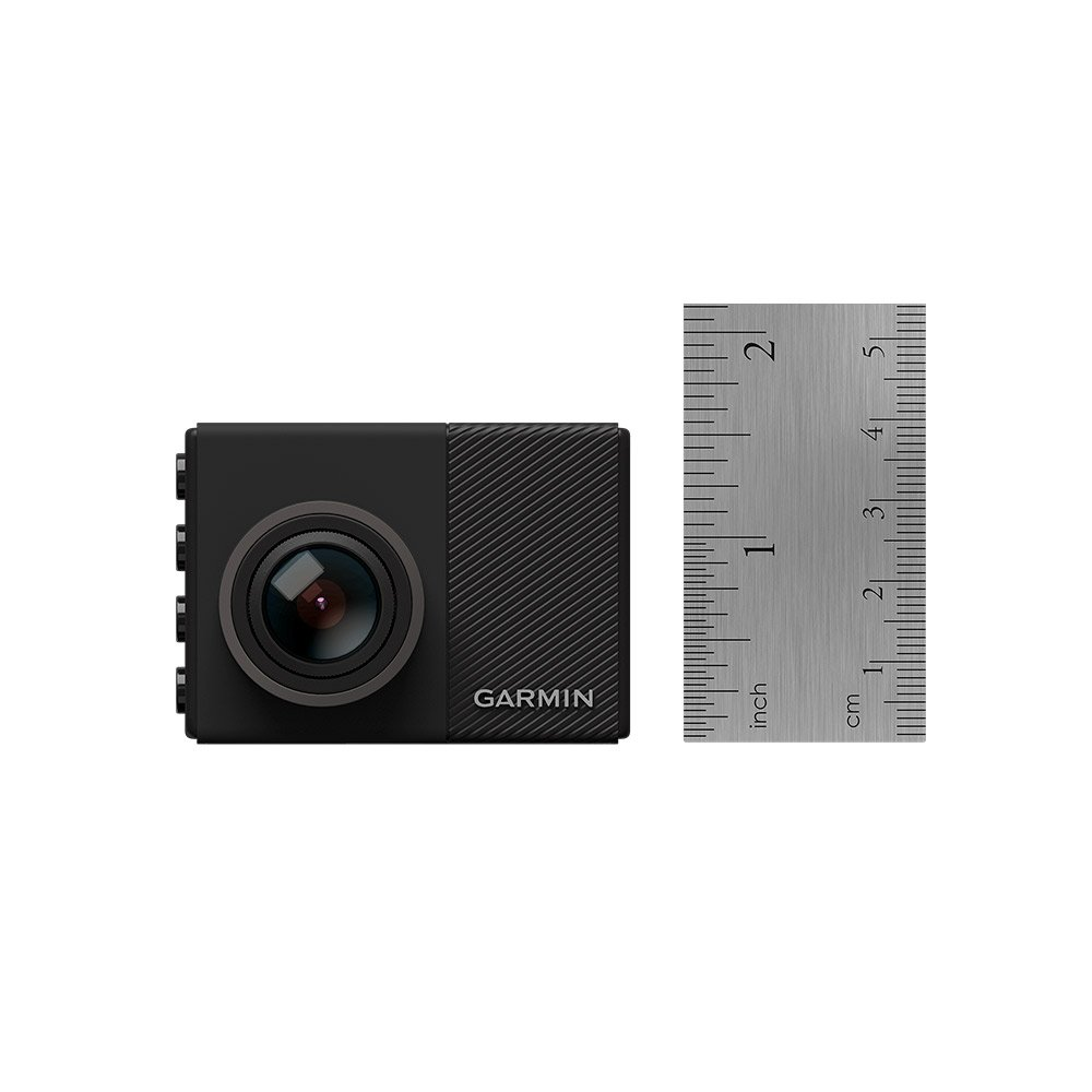 "Garmin Dash Cam 65, 1080p 2.0"" LCD Screen, Extremely Small GPS-enabled Dash Camera, Extra Wide 180-Degree Field of View, Voice Control, Loop Recording, G-Sensor and Driver Alerts, Includes Memory Card"