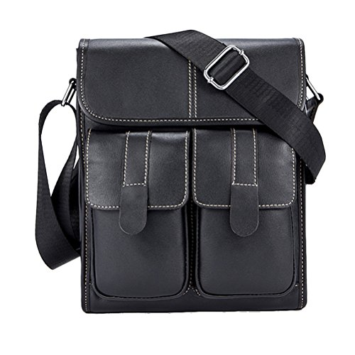 Zhhlinyuan doux Mens Women Lightweight Soft Small Adjustable First Cowhide Leather Crossbody Shoulder Bag Mobile Phone Briefcase