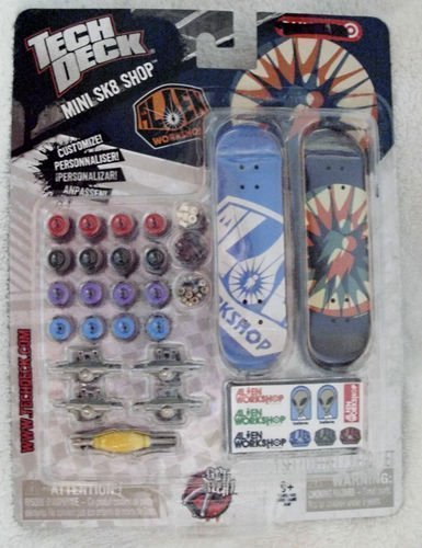 Tech Deck Mini SK8 Shop Alien Workshop Customizable 2 Board Exclusive (Tech Deck Sk8 Shop)