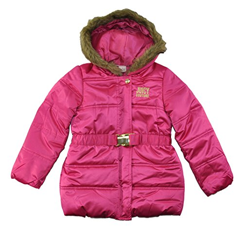 Juicy Couture Baby Girls Infant Puffer Outerwear Coat (Fuchsia, 24M)