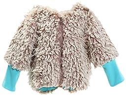 Zutano Little Girls\' Furry Zipper Jacket, Chocolate, 4T