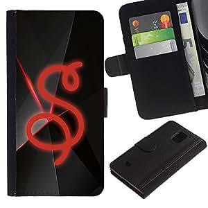 Ihec-Tech / Flip PU Cuero Cover Case para Samsung Galaxy S5 Mini, SM-G800, NOT S5 REGULAR! - S