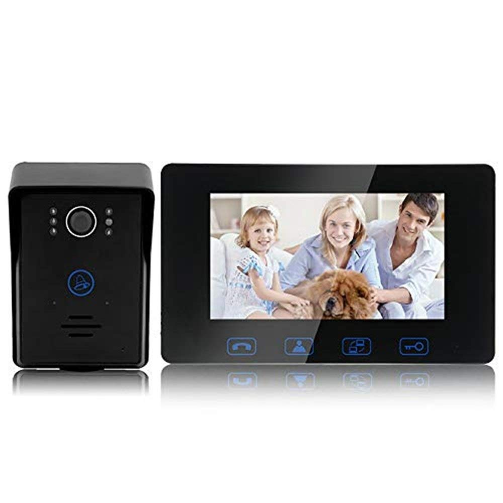 Doorbell Intelligent Video Doorbell-7 Inch color HD Video Doorbell Home Wired Doorbell Villa Intercom Doorbell doorbell
