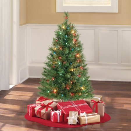 PACK OF 2 - Holiday Time 3' Pre-Lit Multi-Color Winston Pine Christmas Tree by Holiday Time