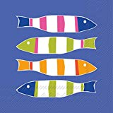Celebrate the Home Kate Nelligan 3-Ply Paper Cocktail Napkins, Stripers, 20 Count