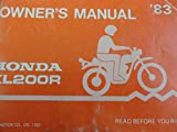 1983 Honda XL200 Owners Manual XL 200 R