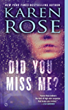 Did You Miss Me? (Romantic suspense Book 14)