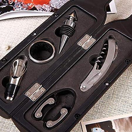 Clásico personalidad Abridores de botellas - 1 3pcs / 5pcs botella de vino Sacacorchos Set de herramientas en forma de botella botella del sostenedor abridor regalo UND Venta práctica sacacorchos del