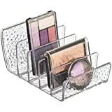 mDesign Textured Cosmetic Palette Organizer for Vanity Cabinet to Hold Makeup, Beauty Products - Clear