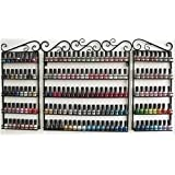 Nail Polish Rack, 3 PCS Set Wall Mounted 5-Tier Metal Nail Polish Organizer for Essential Oils Display/Store