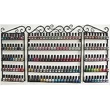 Nail Polish Rack, 3 PCS Set Wall Mounted 5-Tier Metal Nail Polish Organizer for Essential Oils Display/Store