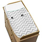 Sweet Jojo Designs Turquoise and Gray Chevron Zig Zag Baby Changing Pad Cover