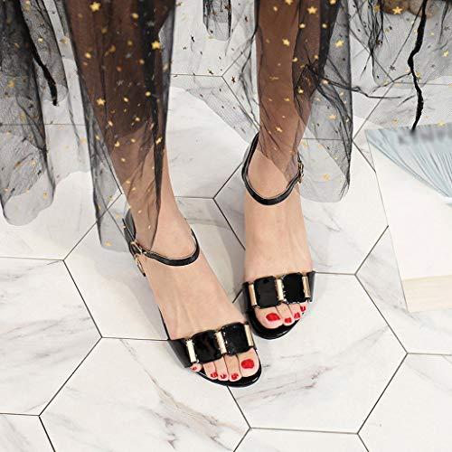 Talon Été Mode Club Noir Poisson Fermeture Soiree Plateforme Chaussures Boucle Darringls Épais De Epais Bouche Ouvert Aiguille 2019 Escarpins Femme Sandales La Bout xqvIfCtR