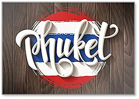 Imán para nevera con diseño de bandera nacional de Phuket y ...