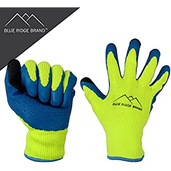 Amazon.com: Blue Ridge Brand™ Winter Latex Work Gloves - 7