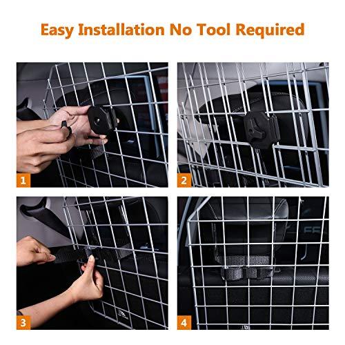 Sailnovo Dog Barrier for Car SUV Vehicles, Adjustable Pet Barrier Wire Mesh Dog Car Barrier for Cargo Area - Universal Fit by Sailnovo (Image #7)