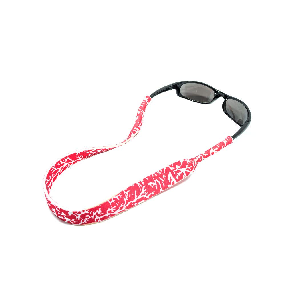 Ukes Premium Sunglass Strap - Durable & Soft Eyewear Retainer Designed with Floating Neoprene Material - Secure fit for Your Glasses and Eyewear. (The Corals)