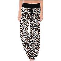 Beauty Womens Pajama Pants Comfy Stretch Print Drawstring Wide Leg