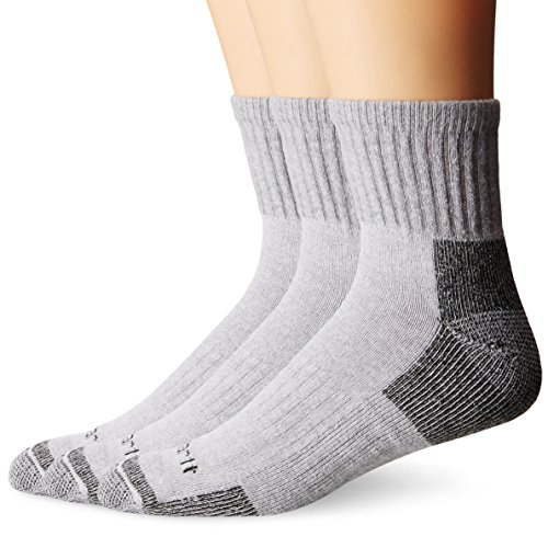 Carhartt Men's 3 Pack Work Quarter Socks,  White, Shoe: 6-12