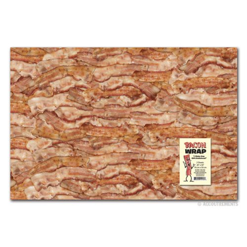 (Accoutrements Bacon Gift Wrap 2 sheets 20