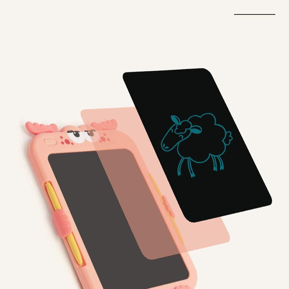 RONGJJ LCD 8,8 Zoll Zeichenbrett LCD Schreibtafel, Magnetische Maltafel Schreibplatte, Maltafel mit An/-Aus, Pink Pink