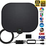 HDTV Antenna, 2021 Newest Indoor Digital TV Antenna 120 Miles Range with Amplifier Signal Booster 4K HD Free Local Channels Support All Television -17ft Coax Cable