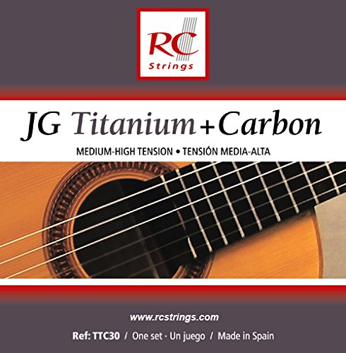 RC Strings TTC30 JG Titanium+Carbon Classical Guitar Strings, Medium-High Tension