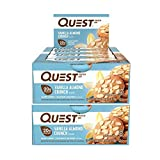 quest almond vanilla - Quest Nutrition Protein Bar Vanilla Almond Crunch. Low Carb Meal Replacement Bar w/ 20g+ Protein. High Fiber, Soy-Free, Gluten-Free (24 Count)