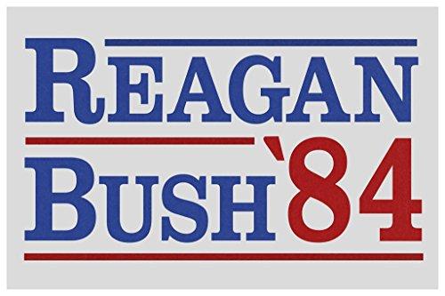 Ronald Reagan George Bush 1984 Campaign Poster 24x36 inch (George Bush Usa Flag)