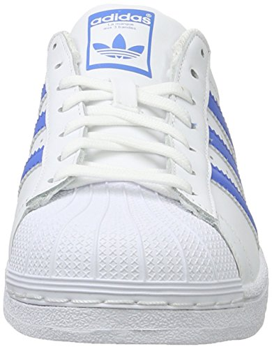 adidas Superstar, Zapatillas Unisex Adulto Blanco (Ftwr White/Ray Blue /Ray Blue)