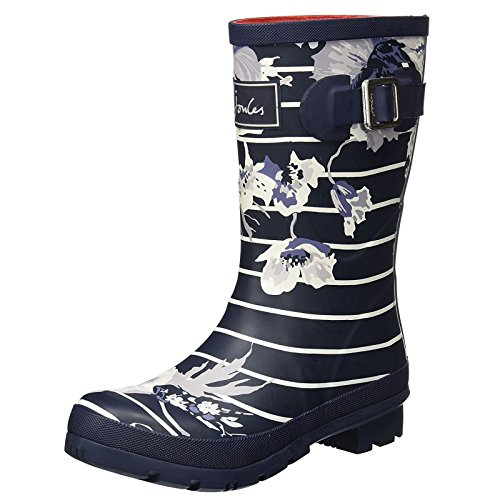 Joules Stripe Welly Molly Navy Rain Women's Posy Boot French xUwaqzpx